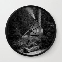 Cabin Smoke Wall Clock