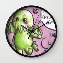 The little, cute and terrible Chtulhu Wall Clock