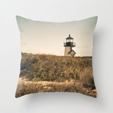Nantucket Lighthouse Throw Pillow