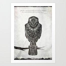 Listen To The Owl Art Print