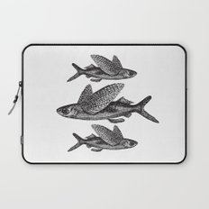 Flying Fish | Black and White Laptop Sleeve