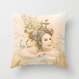 Animal princess Throw Pillow
