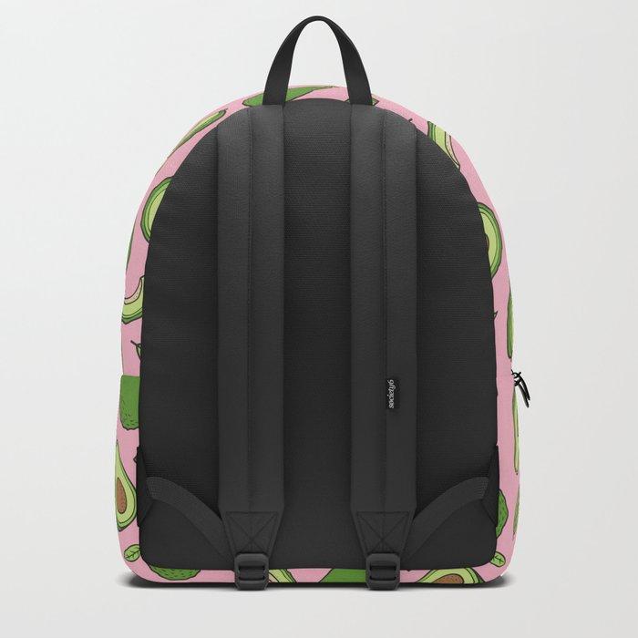 Avocado on Pink Backpack