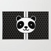 racing Area & Throw Rugs featuring Racing Panda by XOOXOO