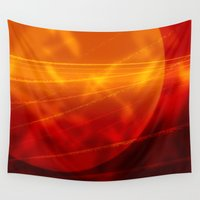 mars Wall Tapestries featuring Mars by renajoy