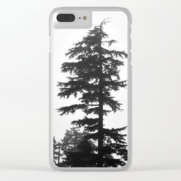 Mountain tree Clear iPhone Case