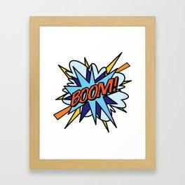 Comic Book Pop Art BOOM Framed Art Print