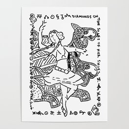 Diamonds on the Soles of Her Shoes  (Two of diamonds, bellydancer and camels) Poster