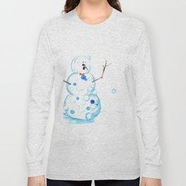Snowman in a Snowball Fight! Long Sleeve T-shirt