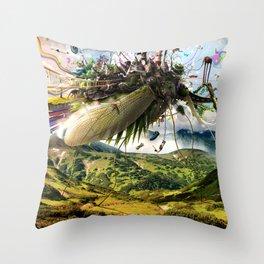 Fleeing Creativity (surreal) Throw Pillow
