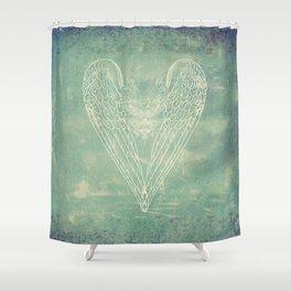 Battered Vintage Heart Shower Curtain