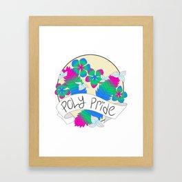 Poly Pride Flowers Framed Art Print