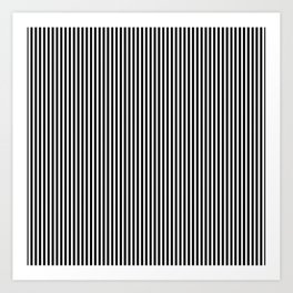 Classic Black and White Pinstripe Pattern Art Print