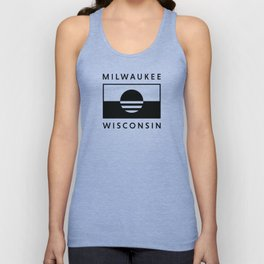 Milwaukee Wisconsin - Black - People's Flag of Milwaukee Unisex Tank Top