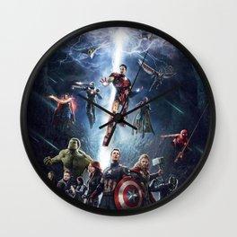 Superhero infinity war Wall Clock