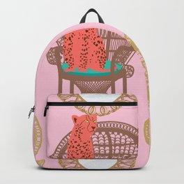 Rattan Cheetah Chairs + Mirrors Backpack