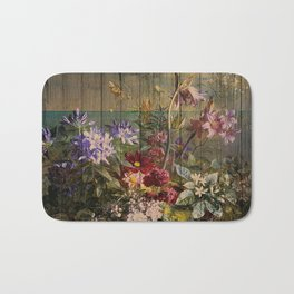 Old master on woodpanel Bath Mat