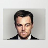 leonardo dicaprio Canvas Prints featuring Leonardo DiCaprio by modia