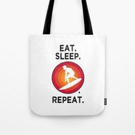 Eat. Sleep. Surfing. Repeat. T Shirt Surfing TShirt Surfer Shirt Vintage Gift Idea  Tote Bag