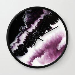 Fluid Expressions - Purple Burst Wall Clock