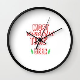 It's The Most Wonderful Time For Beer Wall Clock