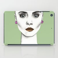 cara iPad Cases featuring Cara by Vicky Ink.