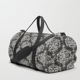 Ornamental Black Marble Pattern Duffle Bag