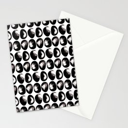 Monochrome pebbles Stationery Cards