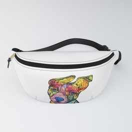 Colourful Pit Bulls, pit bull gift Fanny Pack