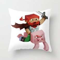Minecraft Avatar H00j0 Throw Pillow