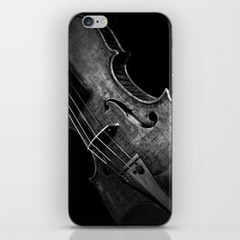 Black and White Violin iPhone Skin
