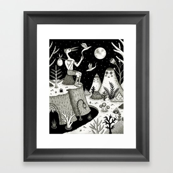 His Destiny Was Written in the Night Sky Framed Art Print