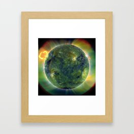 Images from Sun's surface Framed Art Print