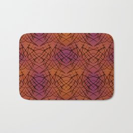 Brown red pattern . Bath Mat