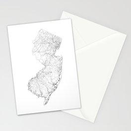 New Jersey State Map, Art Print By LandSartprints  Stationery Cards