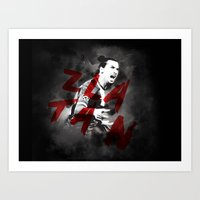 zlatan Art Prints featuring Zlatan by DL Design