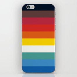 Multicolor Retro Stripes Trickster iPhone Skin