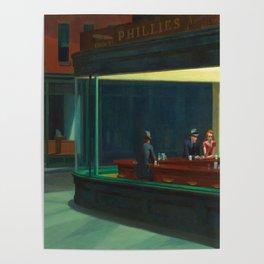 Edward Hopper's Nighthawks Poster