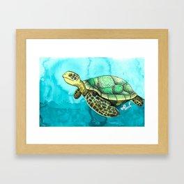 Wild Animals, Sea Turtle Framed Art Print