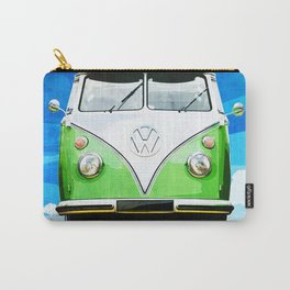 VW CAMPER GREEN - ILLUSTRATION Carry-All Pouch