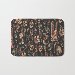 Carnivore RED MEAT / Animal skull illustrations from the top of the food chain Bath Mat