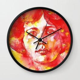 SIMONE WEIL - watercolor portrait Wall Clock