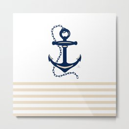 AFE Sapphire  Blue Anchor Metal Print
