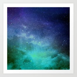 Turquoise Space Art Print