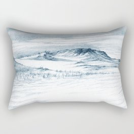 Beach Sand Dunes Drawing Rectangular Pillow