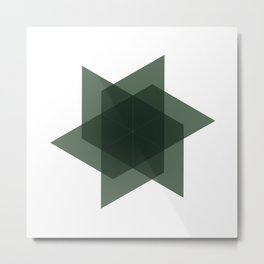 #226 Intersection – Geometry Daily Metal Print