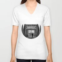 lonely V-neck T-shirts featuring Lonely by Oğuzhan Edman