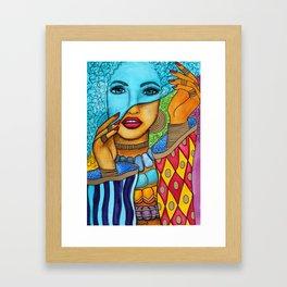 Blue Pashmina Framed Art Print