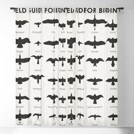 Field Guide for Birding Blackout Curtain