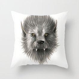 Werewolf beast Throw Pillow